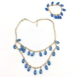 Jewelry - Necklace Set | Tear Drop Statement with Bracelet